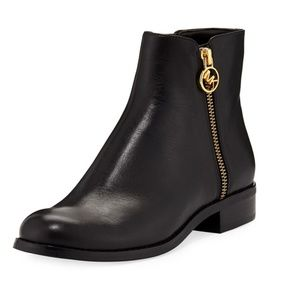 Michael Kors Jaycie Leather Ankle Bootie Boots